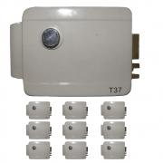 Fechadura Eletronica 10 unidades Portao Trava Eletrica Manual Portas Casa