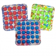 Fidget Pop it kit 3 uni Anti estresse Ansiedade Relaxante Bubbles