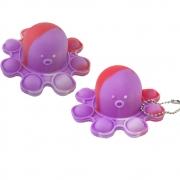 Fidget Toy Polvo Pop It Chaveiro Kit 2 Uni Anti Estresse Ansiedade Relaxante Sensorial
