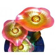 Fonte de Agua Cascata Decorativa Grande Metal Flores para Jardim e Casa (FT-M)