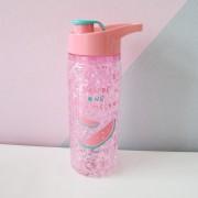 Garrafa Squezze Gel Congelante Bebida Rosa Mantem Agua Gelada