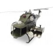 Helicoptero Exercito De Ferro Fundido Vintage Retro 40cm (CJ-019)