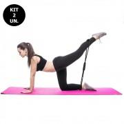 Kit 2 Elasticos Extensores Academia Exercicio Casa Tonificaçao Yoga Ginastica Fitness Pilates Multifuncional
