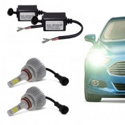 Kit de Farol Lanterna Automotivo para Carro Lampada Led H8 Branca Headlight 6000k (H8)