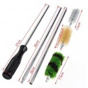 Kit de Limpeza 6 peças Escova arma longa espingardas Caça conjunto manutenção ferramenta