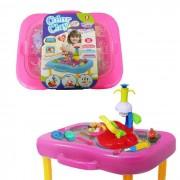 Kit de Massinha 4 Potes Mesa Com Acessorios Modelar Sorvete 365g Infantil Brinquedo (SPI17185)