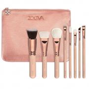 Kit de Pinceis para Maquiagem com Bolsa 8 Pinceis Mulher Beleza