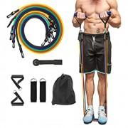 Kit Elástico Extensor 11 Itens Musculação Funcional Em Casa