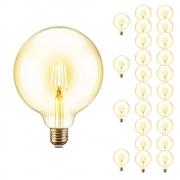 Lampada de Led Multi Filamento 25 Unidades Ballon Retro Vintage Bivolt 380lm 30W Iluminação