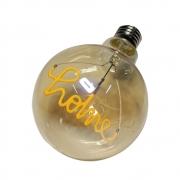 Lampada Led Home Vintage Mensagem 4w Branco Quente Casa Comercio