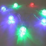 Luminaria Bola 20 Leds Varal Futebol Natal Colorido Decoracao (PW204)