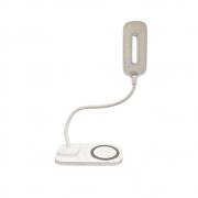 Luminaria de mesa Led Carregador induçao Celular Touch Articulavel 3 cores Carregamento sem fio