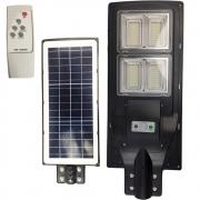 Luminaria Solar 240w Led Poste Rua Sensor Controle Refletor Jardins Iluminaçao Externa