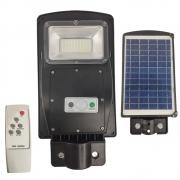 Luminaria Solar Poste 60w Led Rua Controle e Sensor de Movimento Jardins Areas Externas Iluminaçao