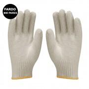 Luvas de Malha Tricotada Kit Fardo 840 Pares EPI Construção Obras segurança proteção Frio Reforçada