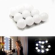 Luz de Espelho Led Maquiagem Make Usb Studio Camarim 3 Cores Regulavel
