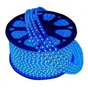 Mangueira de LED 100m Iluminação Azul Luz Natal Rolo Redonda Festa Evento