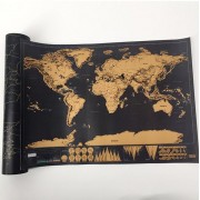Mapa Mundi Raspar Quadro Deluxe raspar Viagens Raspadinha Scratch Map 80x60cm Quadro Presente