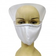 Mascara Facial Face Shield Protetor Viseira Respingos Escudo Epi Ajustavel