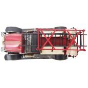 Miniatura Caminhão Bombeiro Vintage Retrô  45,5cm Vermelho (CJ-013)