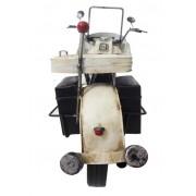 Moto Motocicleta Police Londres Vintage Retro De Metal Fundido (CJ-016)