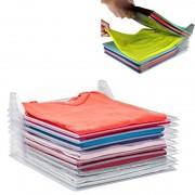 Organizador De Roupas Camiseta Camisa Dobrado Kit Com 6 Un