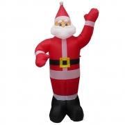 Papai Noel Bluetooth Musical Natal 1 metro e 90 cm 110v RBG Natalino