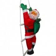 Papai Noel Escada Natal Escalador Enfeite Natalino Decoracao Casa Festas 50cm