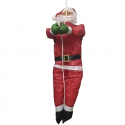 Papai Noel Natal Alpinista Rapel Enfeite Natalino Decoraçao 90cm Escalador