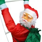 Papai Noel Natalino Decoraçao Natal Escada Parede 90cm Festas Casa Escalador