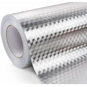 Papel de Parede Aluminio Folha Adesiva Autoadesivo Cozinha Impermeavel Fogao Armario Metalico