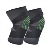 Par de Joelheiras Elasticas 3D  Joelhos Exercício Compressão Fitness Estabilidade Academia Apoio Articulação Suporte
