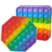 Pop it Fidget Kit 2 uni Anti estresse Ansiedade Relaxante Bubble Sensorial