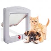 Porta Portinha de Passagem Pet Door P/Gato Cachorro 4 Em 1