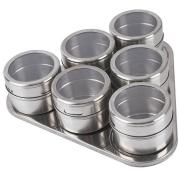 Porta Temperos e Condimentos em Aço Inox Magnetico Metalizado Cozinha