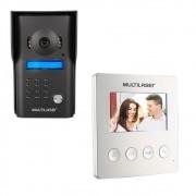 Porteiro Eletronico Kit Sistema Video Interfone Infravermelho Tela Colorida 4,3 Pol.