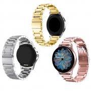 Pulseiras Smartwatch Kit 3 Uni Inox Relogio Inteligente Band