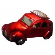 Quadro Carro 3d Para Parede Em Metal Espelhado para Decoração Vermelho Vintage (ENFT-6)