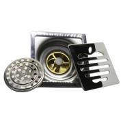 Ralo Abertura Anti Insetos Inox para Banheiro 10X10 Maça Anti Odor