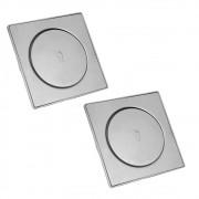 Ralo Click Inteligente Kti 2 und Aço Inox Clic Pop Up Banheiro Lavabo 15x15