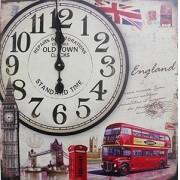 Relogio De Parede Grande Retro Decoracao Inglaterra Vintage