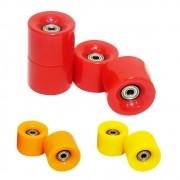 Rodas de Skate Kit Com 4 com Rolamento Abec 7 Silicone (RA-F)