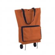 Sacola Carrinho de Compras Feira Dobravel  3 funções Bolsa 2 rodas Reforçada Portatil