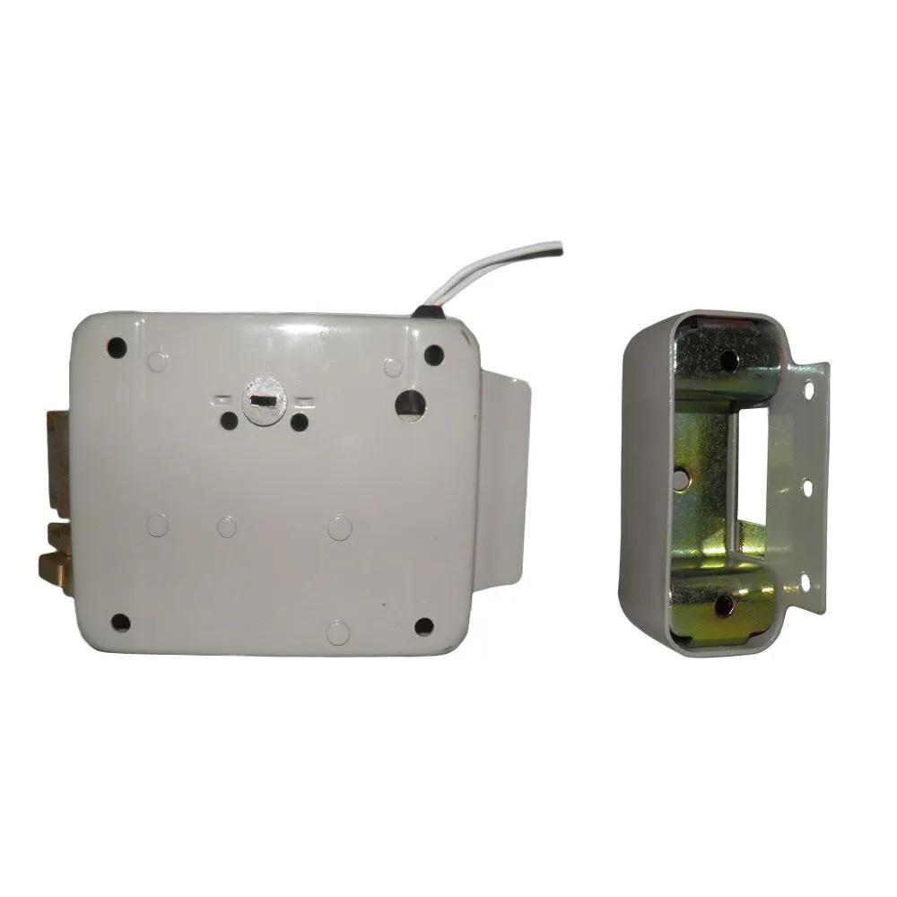 30 unidades Fechadura Eletronica Portao Trava Eletrica Manual Portas Casa