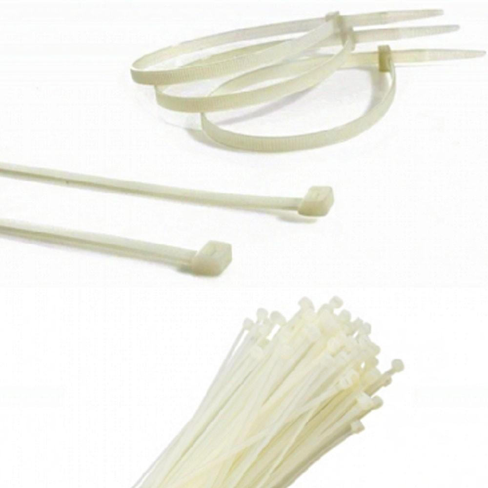 Abraçadeira de Nylon Branco 50 Uni Enforca Gato Cinta Plastica 370mm x 7mm