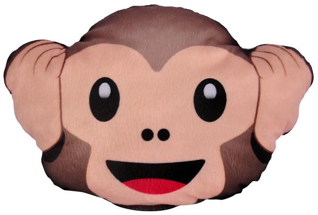 Almofada Macaco Emoji Nao Ouco Quarto Sala Decoraçao