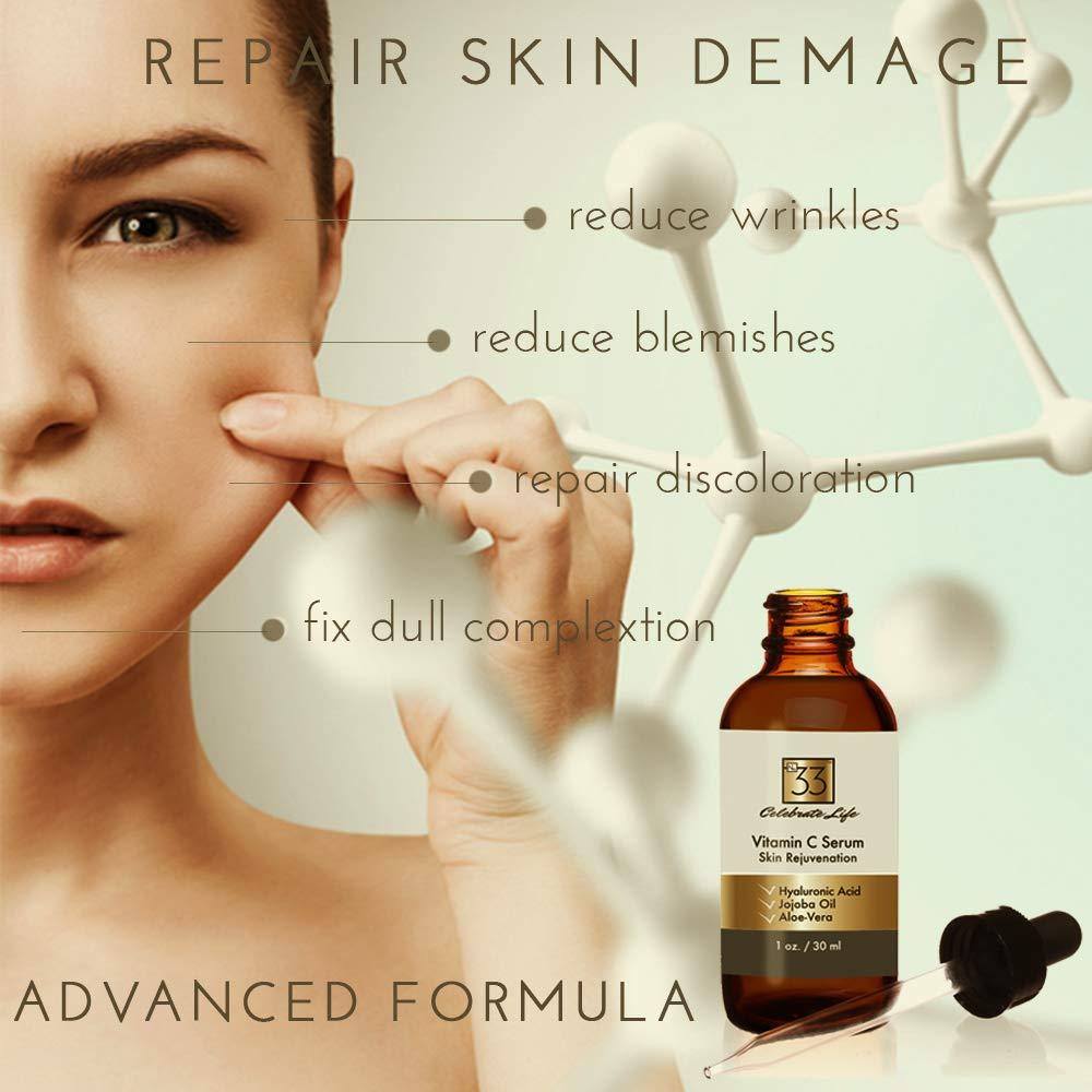 anti rugas Vitamina C Serum hidratante reparador epiderme clareador colageno