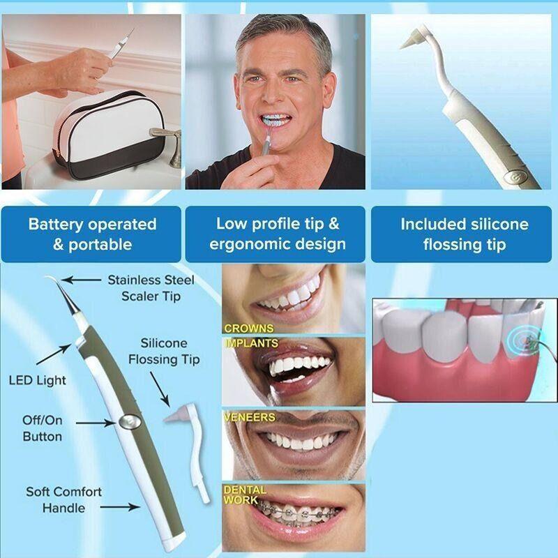 Aparelho de Limpeza Dental Remove Tartaro Placa Bacteriana Manchas Dentes