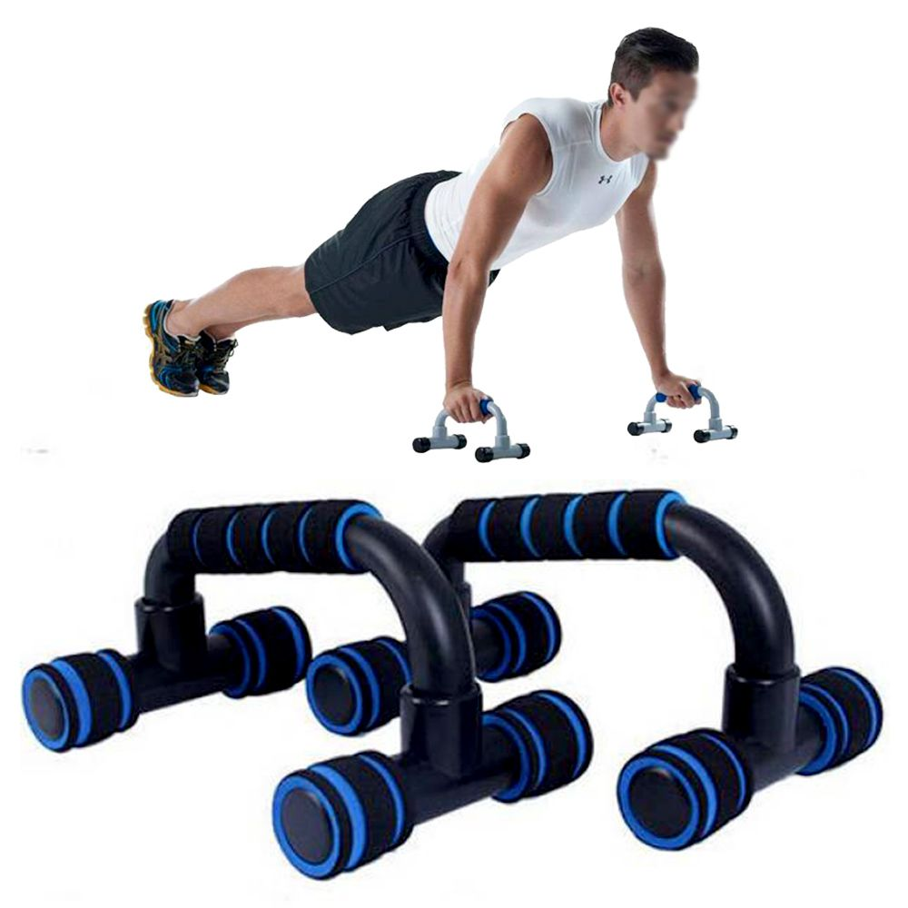 Apoio Fixo Flexao Braço Fortalecimento Musculaçao Exercicios Azul