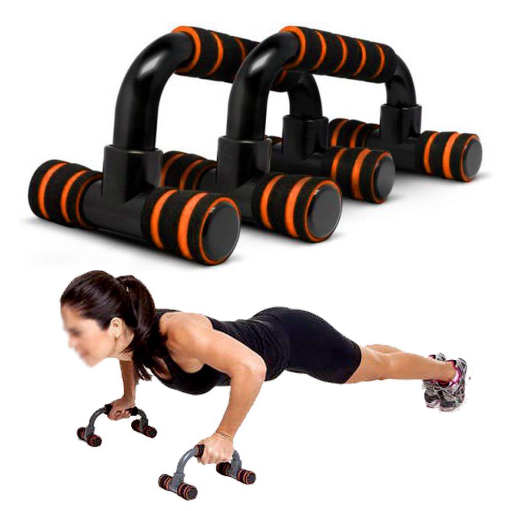 Apoio Flexao Braço Fixo Fortalecimento Musculaçao Exercicios Laranja